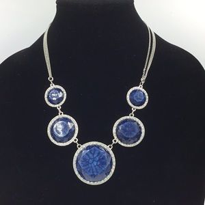 Vera Wang Blue Rhinestone Statement Necklace